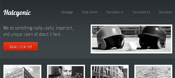 Halcyonic in 23 New and Free HTML5 Templates