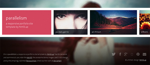 Parallelism in 23 New and Free HTML5 Templates