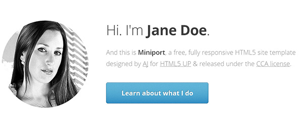 Miniport in 23 New and Free HTML5 Templates