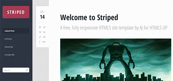 Striped in 23 New and Free HTML5 Templates