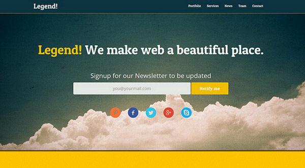 Legend in 23 New and Free HTML5 Templates