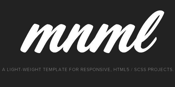 mnml in 23 New and Free HTML5 Templates