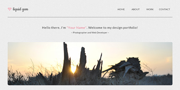 Liquid Gem in 23 New and Free HTML5 Templates